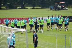 Players of National team Slovenia during training of Slovenian national football team before friendly match against Montenegro, on May 30, 2018 in National Football Centre, Brdo pri Kranju, Kranj, Slovenia. Photo by Urban Urbanc / Sportida