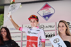 Juliette Labous (FRA) leads the youth classification after Stage 6 of 2019 Giro Rosa Iccrea, a 12.1 km individual time trial from Chiuro to Teglio, Italy on July 10, 2019. Photo by Sean Robinson/velofocus.com