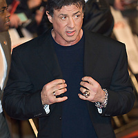 LONDON - FEBRUARY 12:  Actor Sylvester Stallone meets fans at the UK gala premiere of 'Rambo' at the Vue cinema, Leicester Square on February 12, 2008 in London, England.