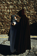 SPAIN / Aragon / Teruel. Medieval recreations in Spain. A Templar knight greets a monk. The city rememorates the story of lovers Isabel de Segura and Diego Marcilla, known as Los Amantes de Teruel.....