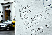 "London | April 7, 2010 | Thousands visit Abbey Road Studios in northwest London every year and leave a note at the outside walls of the venue. One reads ""Long Live The Beatles"" 