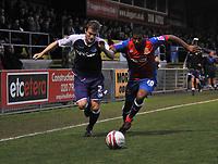 Photo: Tony Oudot/Richard Lane Photography. Dagenham & Redbridge v Rochdale. Coca-Cola Football League Two. 21/11/2009. <br /> Scott Wiseman of Rochdale chases the ball with Josh Scott of Dagenham