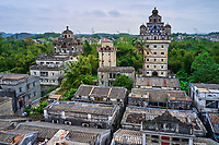 Chine, Province de Guangdong, Kaiping, patrimoine mondial de l'Unesco, village de Jinjiangli, les Diaolou sont des tours fortifiées // China, Guangdong, Kaiping, Unesco World Heritage, Jianjiangli village, the Diaolou are multi storey watchtowers