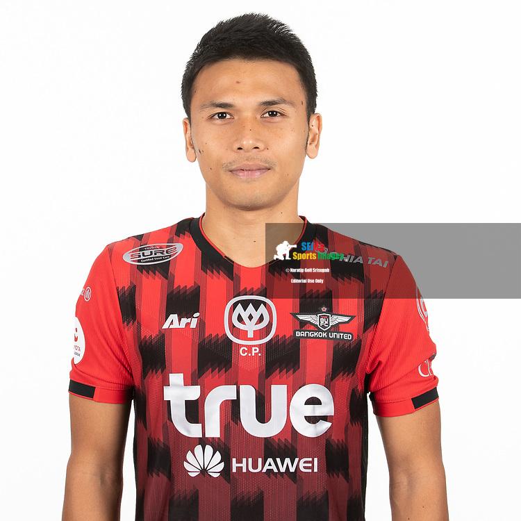THAILAND - MARCH 06: Puttinan Wannasri #5 of True Bangkok United on March 06, 2019.<br /> .<br /> .<br /> .<br /> (Photo by: Naratip Golf Srisupab/SEALs Sports Images/MB Media Solutions)