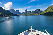 Paul Gauguin Cruise Ship, Opunohu Bay, Moorea, French Polynesia