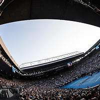 A general view of Rod Laver Arena during the women's singles championship match during the 2018 Australian Open on day 13 in Melbourne, Australia on Saturday night January 27, 2018.<br /> (Ben Solomon/Tennis Australia)
