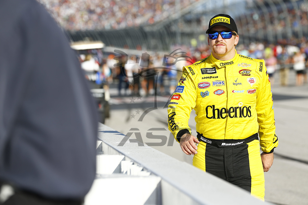 September 03, 2017 - Darlington, South Carolina, USA: Chris Buescher (37) hangs out in the garage during practice for the Bojangles' Southern 500 at Darlington Raceway in Darlington, South Carolina.