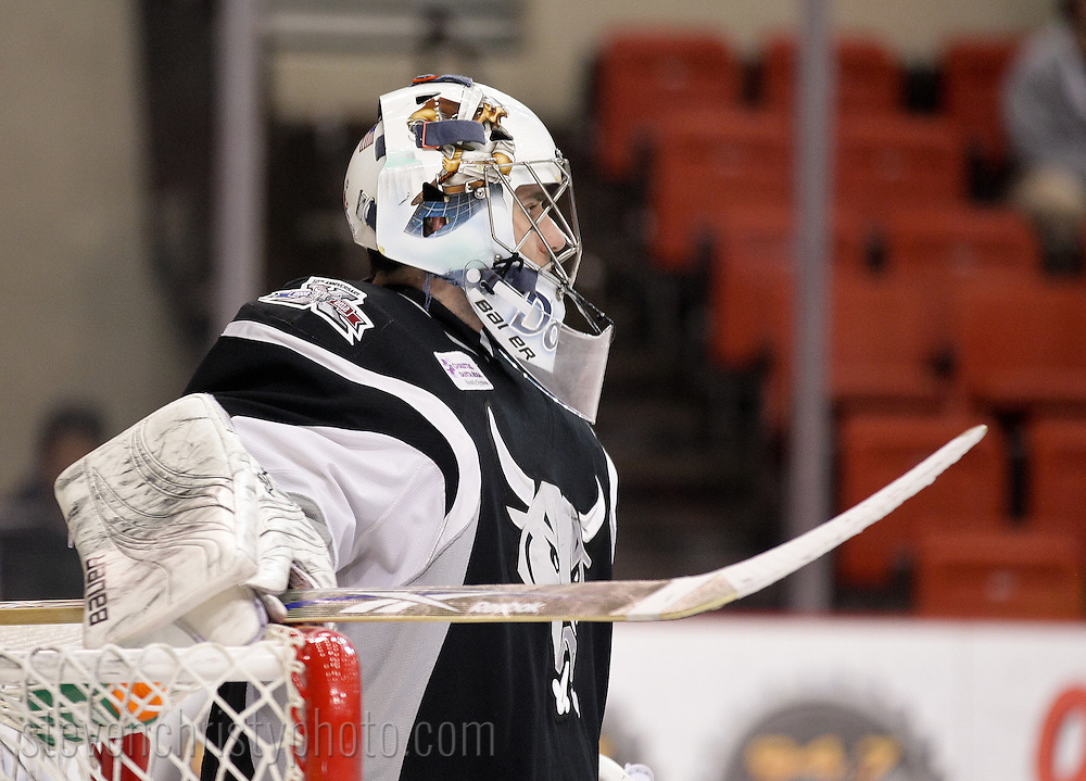 February 2, 2012: The Oklahoma City Barons play the San Antonio Rampage in an American Hockey League game at the Cox Convention Center in Oklahoma City.