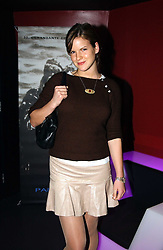 KATE SUMNER daughter of singer Sting at a party hosted by Panerai and the Baglioni Hotel, 60 Hyde Park Gate, London on 6th December 2004.<br /><br />NON EXCLUSIVE - WORLD RIGHTS