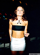 Girl with the cream symbol on her chest Ibiza 1999