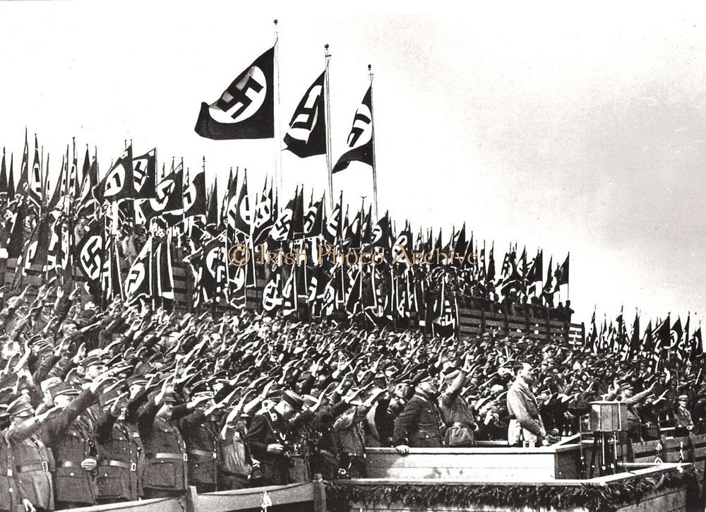 Nuremberg Rally addressed by Adolf Hitler in 1933.
