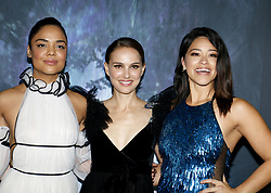 Tessa Thompson, Natalie Portman and Gina Rodriguez at the Los Angeles premiere of 'Annihilation' held at the Regency Village Theater in Westwood, USA on February 13, 2018.