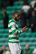 14th October 2017, Celtic Park, Glasgow, Scotland; Scottish Premiership football, Celtic versus Dundee; Celtic's goalscorer Olivier Ntcham at full time