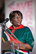 Dorothy Matebeni, President of the Democratic Nurses Organisation of South Africa (DENOSA).  This week as the governments controversial Health and Social Care Bill enters its final stages in the House of Lords, patients, health workers and campaigners are to come together on Wednesday for a TUC-organised Save Our NHS rally in Westminster. On Wednesday (7 March 2012) over 2,000 nurses, midwives, doctors, physiotherapists, managers, paramedics, radiographers, cleaners, porters and other employees from across the health service will join with patients to fill Central Hall Westminster. Once inside they will listen to speeches from politicians, fellow health workers, union leaders and health service users.