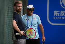 September 22, 2018 - Nick Saviano watches Elina Svitolina during practice at the 2018 Dongfeng Motor Wuhan Open WTA Premier 5 tennis tournament (Credit Image: © AFP7 via ZUMA Wire)