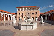 Israel, Caesarea, Ralli Museum of modern art the court yard