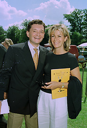 MON. & MME. PHILLIPE SEREYS DE ROTHSCHILD at a polo match in Sussex on 20th July 1997.MAM 33