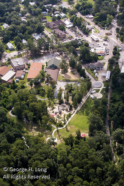 aerial view of Abita Springs, Louisiana