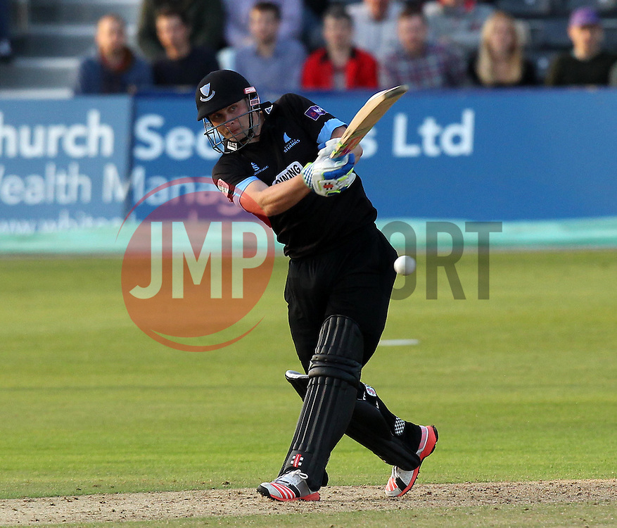 Sussex's Luke Wright batting on his way to a century - Photo mandatory by-line: Robbie Stephenson/JMP - Mobile: 07966 386802 - 26/06/2015 - SPORT - Cricket - Bristol - The County Ground - Gloucestershire v Sussex - Natwest T20 Blast