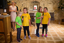 Singers during first competition for best potica at Otocec castle, on April  13th, 2017 in Otocec, Slovenia. Photo by Martin Metelko / Sportida