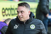 Forest Green Rovers academy manager Scott Bartlett during the Gloucestershire Senior Cup match between Forest Green Rovers and U23 Bristol City at the New Lawn, Forest Green, United Kingdom on 9 April 2018. Picture by Shane Healey.
