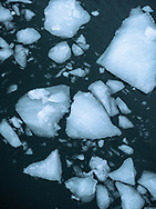 Floating ice in Disko Bay.