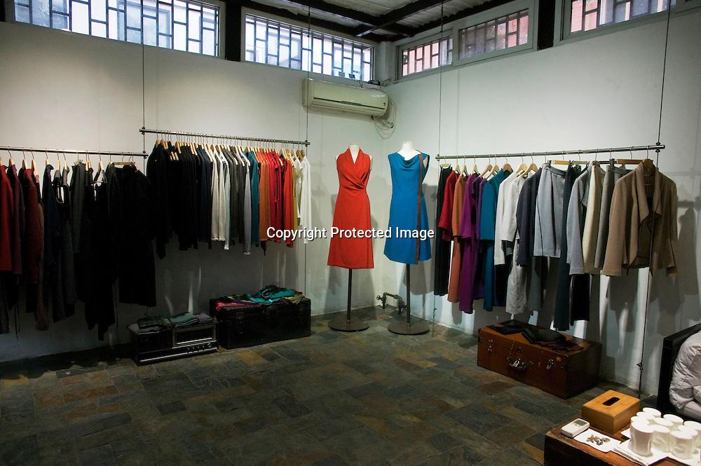 BEIJING, APRIL 19 : die neueste Kollektion im Atelier der Designerin Kathrin von Rechenberg.