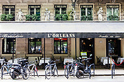 Exterior of the restaurant Brasserie L'Orleans in Bordeaux, France. CREDIT: Markel Redondo for the Wall Street Journal.<br /> LYONS