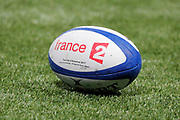 Ball illustration of France Television during the Rugby Union Autumn Test match between France and Japan on November 25, 2017 at U Arena in Nanterre, France - Photo Stéphane Allaman / ProSportsImages / DPPI