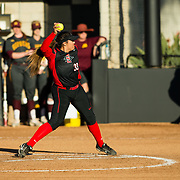 02 March 2018: San Diego State softball hosts Minnesota on day two of the San Diego Classic I at Aztec Softball Stadium. San Diego State starting pitcher Marissa Moreno (33) seen here in the top of the first against Minnesota. The Aztecs beat the #21/20 Gophers 6-2.<br /> More game action at sdsuaztecphotos.com