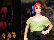 One of the models for designer Lissa Lush at the LadyFest Fashion Show at c{space in downtown Dayton, Saturday, August 7. 2010..