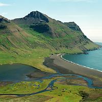 Kirkjuból og Vaðlar, VaðlavÌk, Helgustaðahreppur /.Kirkjubol and Vadlar in Vadlavik, Helgustadahreppur.