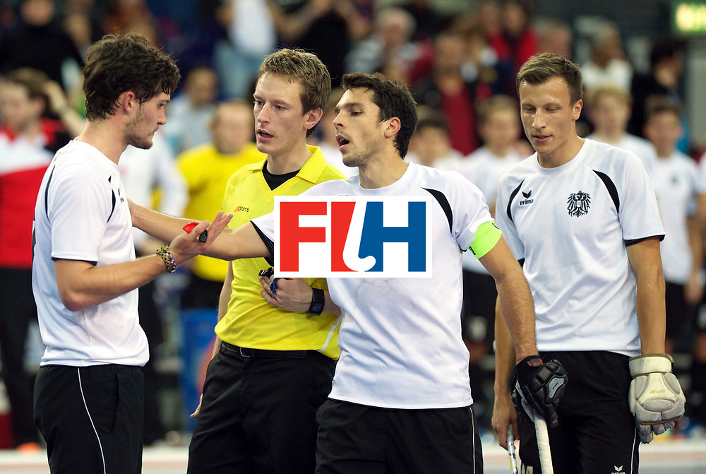 LEIZPIG - WC HOCKEY INDOOR 2015<br /> AUT v IRI (Semi Final 2)<br /> HASUN Xaver and STANZL Benjamin (C)<br /> FFU PRESS AGENCY COPYRIGHT FRANK UIJLENBROEK