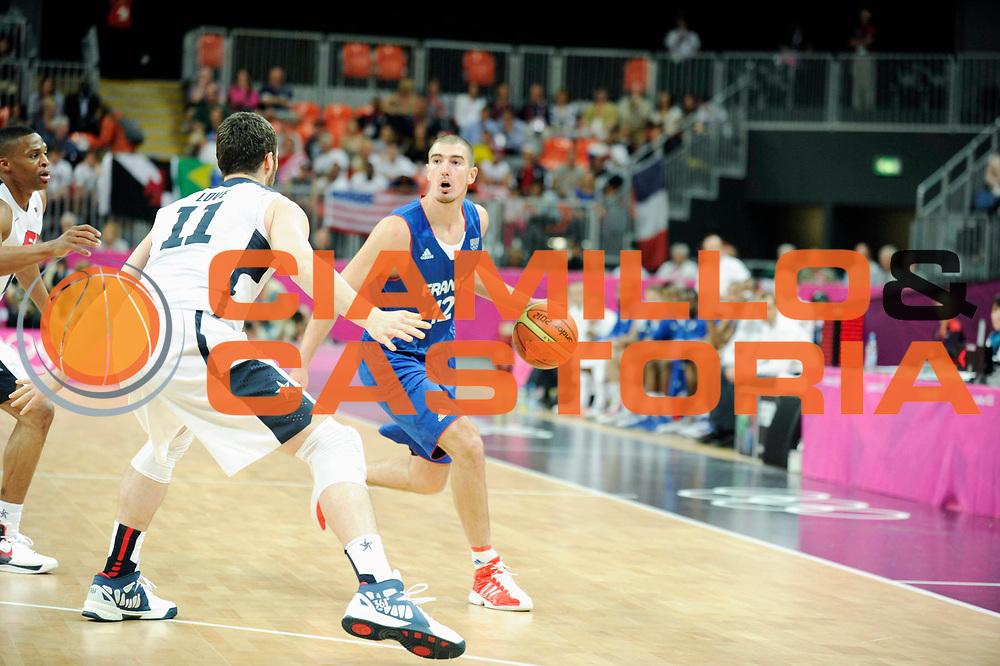 TDESCRIZIONE : France Basket Jeux Olympiques Londres <br /> GIOCATORE : DECOLO Nando FRA<br /> SQUADRA : France Homme<br /> EVENTO : FRANCE basket Jeux Olympiques<br /> GARA : FRANCE USA<br /> DATA : 29 07 2012<br /> CATEGORIA : Basketball Jeux Olympiques<br /> SPORT : Basketball<br /> AUTORE : JF Molliere <br /> Galleria : France JEUX OLYMPIQUES 2012 Action<br /> Fotonotizia : France Basket Homme Jeux Olympiques Londres premier tour France Usa<br /> Predefinita :