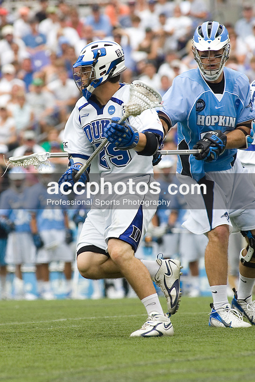 28 May 2007: Duke Blue Devils midfielder Mike Catalino (29) in a 11-12 loss to the Johns Hopkins Blue Jays at M&T Bank Stadium during the NCAA finals in Baltimore, MD.