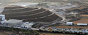 Aerial view of the Tamra landfill Galilee, Israel