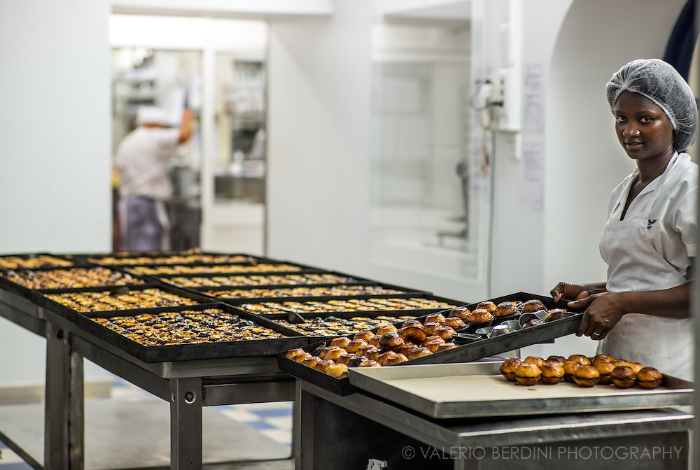 Pastel de nata is a Portuguese egg tart pastry, common in Portugal. Pastéis de nata were created before the 18th century by Catholic monks at the Jerónimos Monastery in the civil parish of Santa Maria de Belém. This is the original place were they keep being prepared with the original recipe.