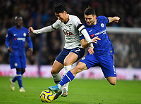 Football - 2019 / 2020 Premier League - Tottenham Hotspur vs. Chelsea<br /> <br /> Tottenham Hotspur's Son Heung-Min holds off the challenge from Chelsea's Mateo Kovacic, at The Tottenham Hotspur Stadium.<br /> <br /> COLORSPORT/ASHLEY WESTERN