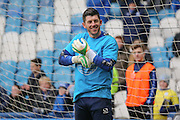 Sheffield Wednesday goalkeeper Keiren Westwood  during the Sky Bet Championship match between Sheffield Wednesday and Brentford at Hillsborough, Sheffield, England on 13 February 2016. Photo by Simon Davies.