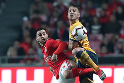 December 23, 2018 - Lisbon, Portugal - Benfica's Serbian midfielder Andrija Zivkovic (L) vies with Braga's defender Nuno Sequeira during the Portuguese League football match SL Benfica vs SC Braga at the Luz stadium in Lisbon on December 23, 2018. (Credit Image: © Pedro Fiuza/NurPhoto via ZUMA Press)