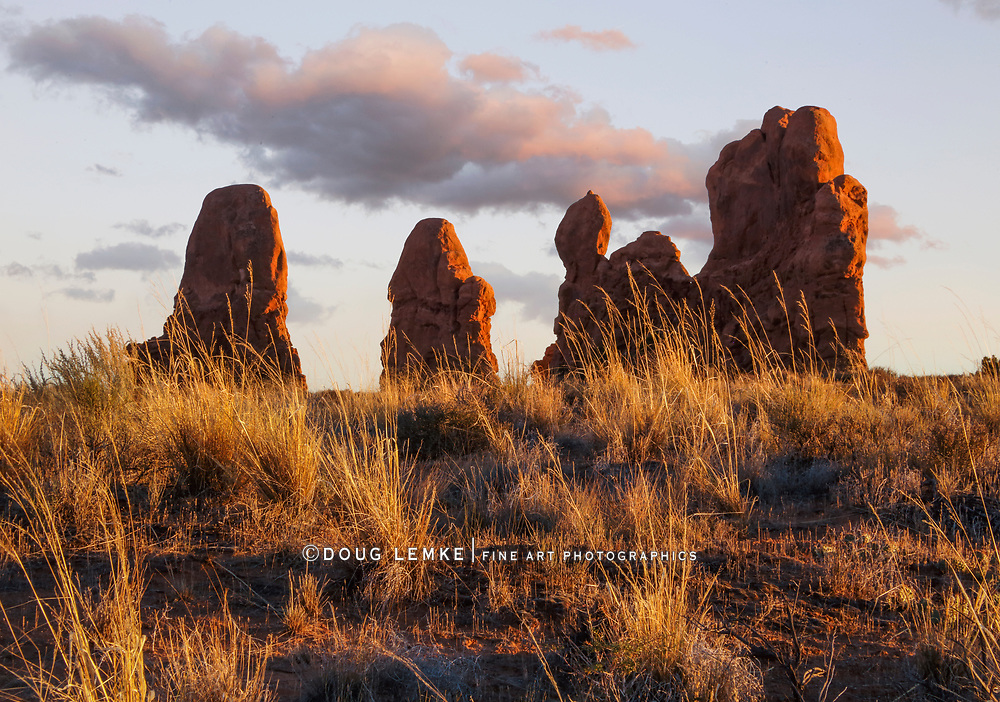 Bizarre rock formations at Arches National Park, Utah, USA