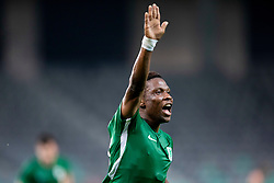 Abass Issah of NK Olimpija Ljubljana celebrates goal during 1st Leg football match between NK Olimpija Ljubljana and HJK Helsinki in 3rd Qualifying Round of UEFA Europa League 2018/19, on August 9, 2018 in SRC Stozice, Ljubljana, Slovenia. Photo by Urban Urbanc / Sportida