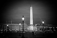 France. Paris. 8th district . place de la concorde obelisk