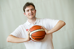 Lukas Mord of Slovenian Deaf Basketball team at media day, on June 13, 2016 in GIB Centre, Ljubljana, Slovenia. Photo by Vid Ponikvar / Sportida