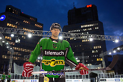 Andrej Hebar at first practice before Ice Fest 2014 on Repulic Square for Winter Classic of HDD Telemach Olimpija called Pivovarna Union Ice Fest 2014, on December 15, 2014 on Republic Square, Ljubljana, Slovenia. (Photo By Matic Klansek Velej / Sportida.com)