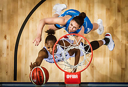 Olbis Futo Andre of Italy vs Tina Jakovina of Slovenia during basketball match between Women National teams of Italy and Slovenia in Group phase of Women's Eurobasket 2019, on June 30, 2019 in Sports Center Cair, Nis, Serbia. Photo by Vid Ponikvar / Sportida
