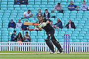 Ben Foakes (Surrey) on his way to a half century during the Royal London 1 Day Cup match between Surrey County Cricket Club and Kent County Cricket Club at the Kia Oval, Kennington, United Kingdom on 12 May 2017. Photo by Jon Bromley.