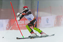 Gabriel Juan GORCE YEPES competing in the Alpine Skiing Super Combined Slalom at the 2014 Sochi Winter Paralympic Games, Russia