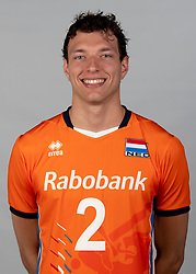 14-05-2018 NED: Team shoot Dutch volleyball team men, Arnhem<br /> Wessel Keemink #2 of Netherlands