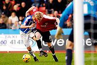 Photo: Alan Crowhurst.<br />Brighton & Hove Albion v Bristol City. Coca Cola League 1. 24/02/2007. Bristol's Andy Smith (C) gets into the box.